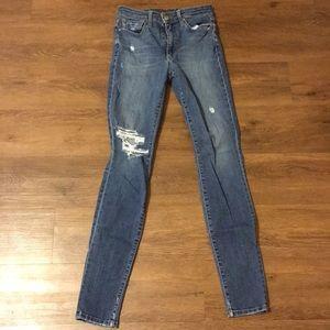 EUC Joe's Jeans High Waist Skinny Destroyed